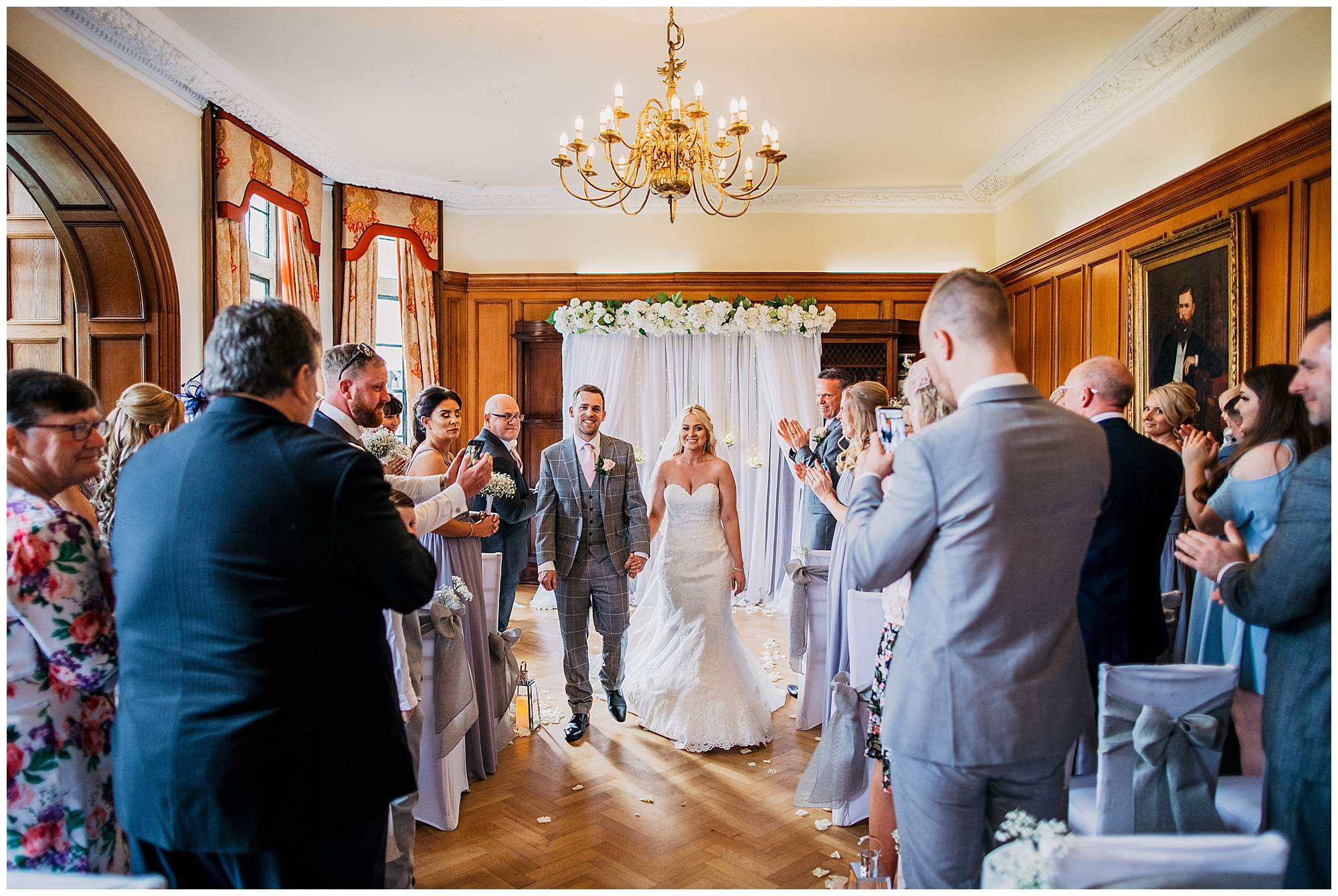 bride and groom at pennyhill park hotel and spa