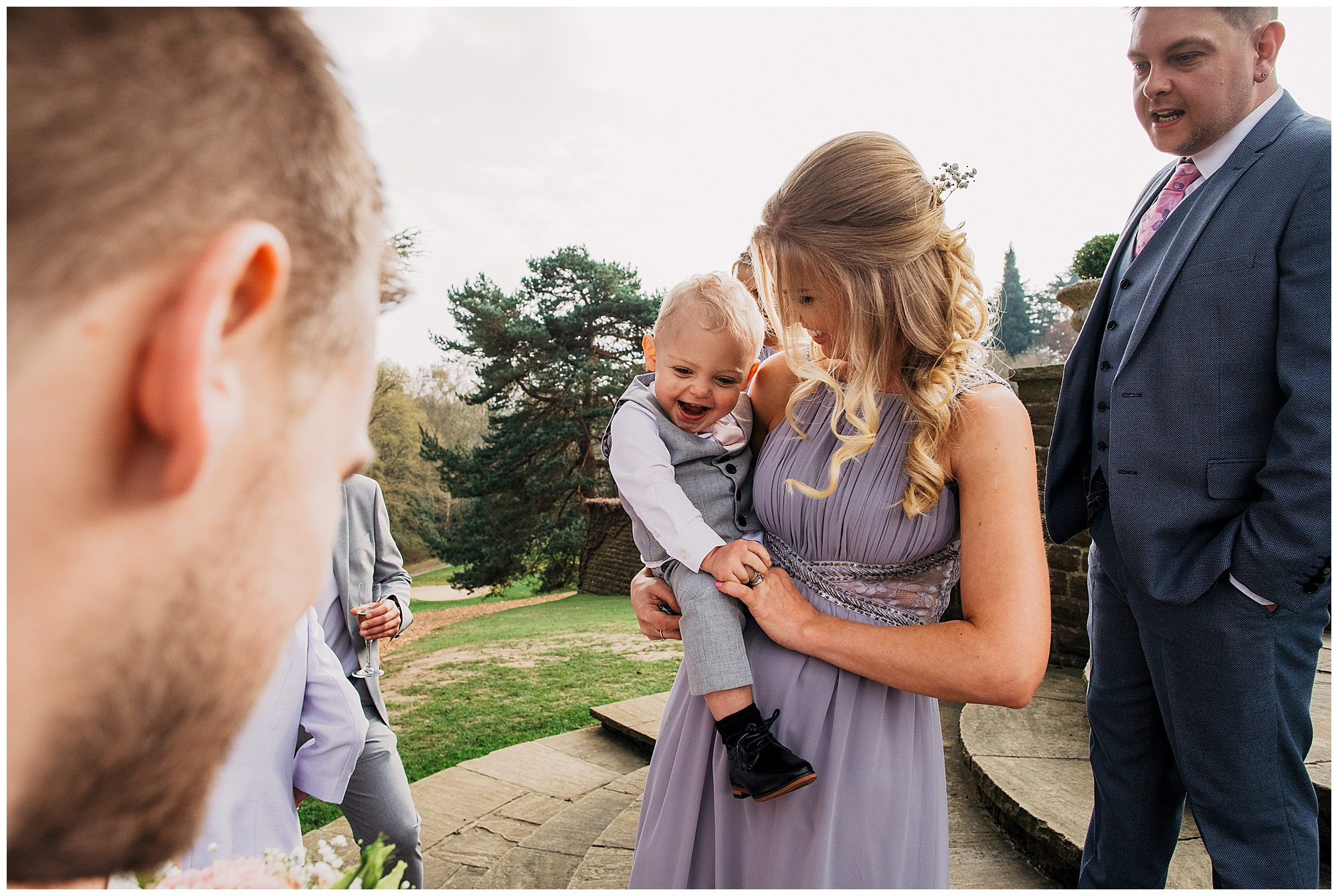 wedding guests at pennyhill park hotel and spa